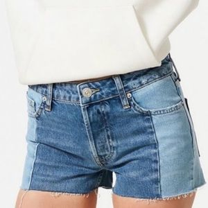 Urban Outfitters BDG Two Tone Denim Shorts